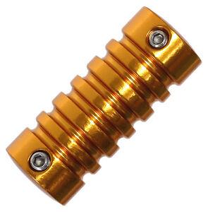 Aluminium Tattoo Grip 22 mm *VERSION 2* ORANGE mit Endrohr Tätowier Griffstück