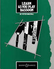 Learn as You Play Bassoon: Tutor Book by Peter Wastall (Paperback, 1983)