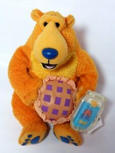 FISHER-PRICE-Stuffed-Plush-Bear-In-The-Big-Blue-House-Holding-A-Pie-6-034