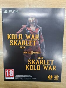 Mortal-Kombat-11-Kold-War-Skarlet-skin-Playstation-4-PS4-DLC-code-only-NO-GAME