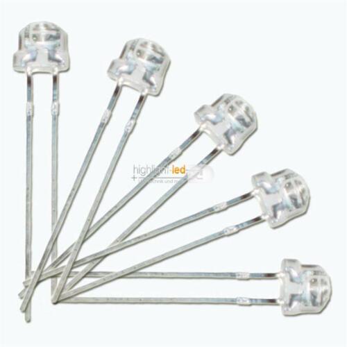 frío blanco White 100 LEDs 4,8mm agua clara ancha abstrahlend pur-blanco agua clara