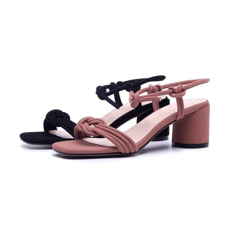 New Ladies Ladies Ladies Sandal Square Toe Block Heels Lace Up Slip On Sweet Causal Hot shoes 52e6ea
