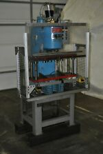 10 Ton Air Hydraulics C Frame Press 110v 24 X 8 Die Set 4 Stroke 144 Daylght