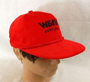 Weaver Auto Parts >> Details About Weaver Auto Parts Baseball Hat Adjustable Cap Strapback Farmer Trucker Corduroy