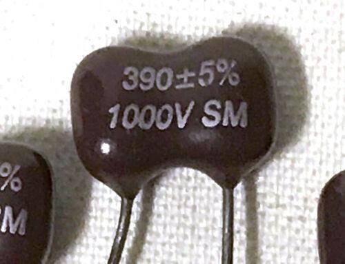 50 pcs 1000V 390pF Dipped Silver Mica Capacitors 390 pF 1KV 5/% NEW