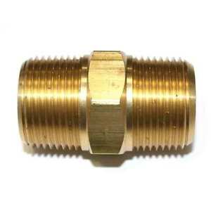 1-034-NPT-Male-Brass-Hex-Nipple-pipe-fitting-air-fuel-gas-water-FA919-9