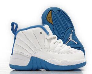 super popular 38bf5 cefdc Details about AIR JORDAN Sz 5C Infant/Toddler 819666-127 White/Baby Blue 12  RETRO GT MELO Shoe