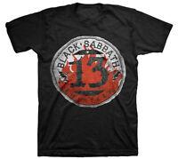Official Black Sabbath Flame Circle Thirteen Adult T-shirt -rock Band Ozzy Tee