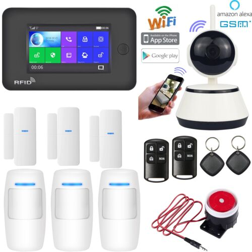 O61 APP WiFi GSM RFID Wireless Home Security Alarm System+IP Camera+Amazon Alexa