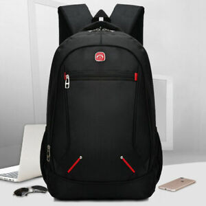 "New Fashion 16/"" Mens School Travel Backpack Laptop Notebook Zipper Bag Rucksack"