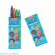 12 Packs Bubble Guppies Children's Birthday Party Loot Favour Colour Crayons