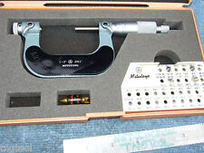 Thread Micrometer 126 138 1 2 Mitutoyo With4anvils Ovr 850 When New All Size
