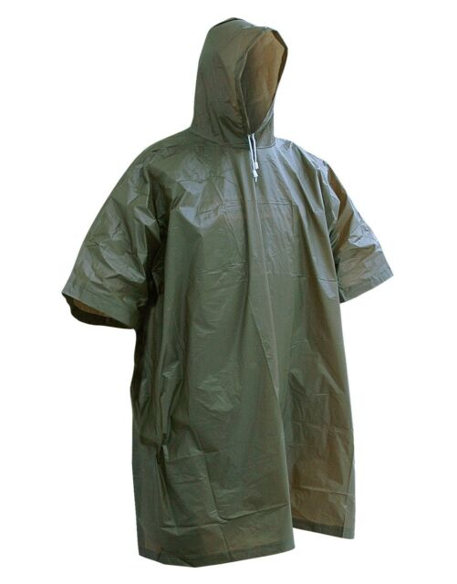 Vinyl  Emergency Wet Weather Waterproof Hooded Rain Poncho