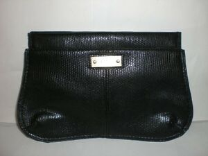99b76b881df Image is loading AUTHENTIC-CHLOE-SNAKE-PRINT-BLACK-MAGNETIC-MAKEUP-BAG