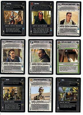 Star Wars CCG Tatooine Alternate Image Rare Card Selection