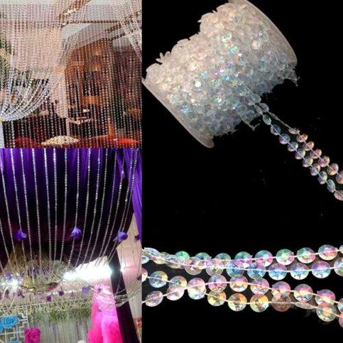 iiridescent Acrylique Crystal Guirlande De Perles Diamond Strand mariage décoration environ 30.18 m 99 FT