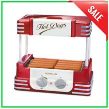 Hot Dog Roller Amp Bun Warmer Machine Adjustable Heat Cooker Grill Retro Nostalgia