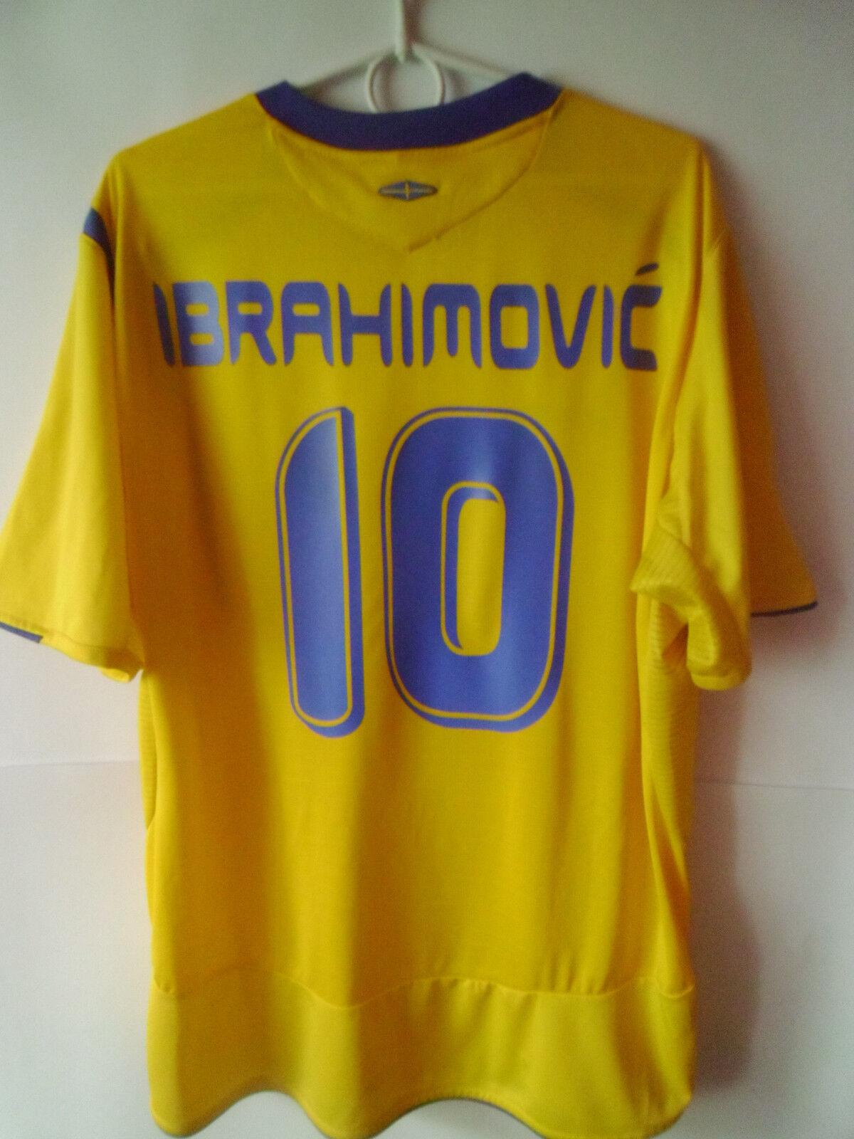 IBRAHIMOVIĆ ZLATAN   ZLATAN    2005-06 Sweden Home Shirt Jersey Trikot XL 463ff0