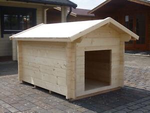 Fußboden Weiß Xxl ~ Hundehütte xxl mm wandstärke mm fussboden satteldach