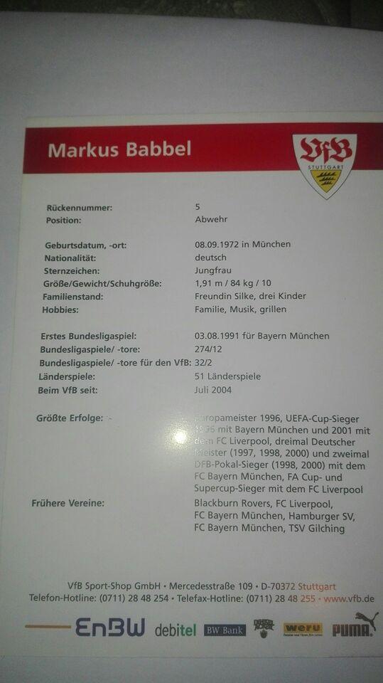 Autografer, Markus babbel autograf