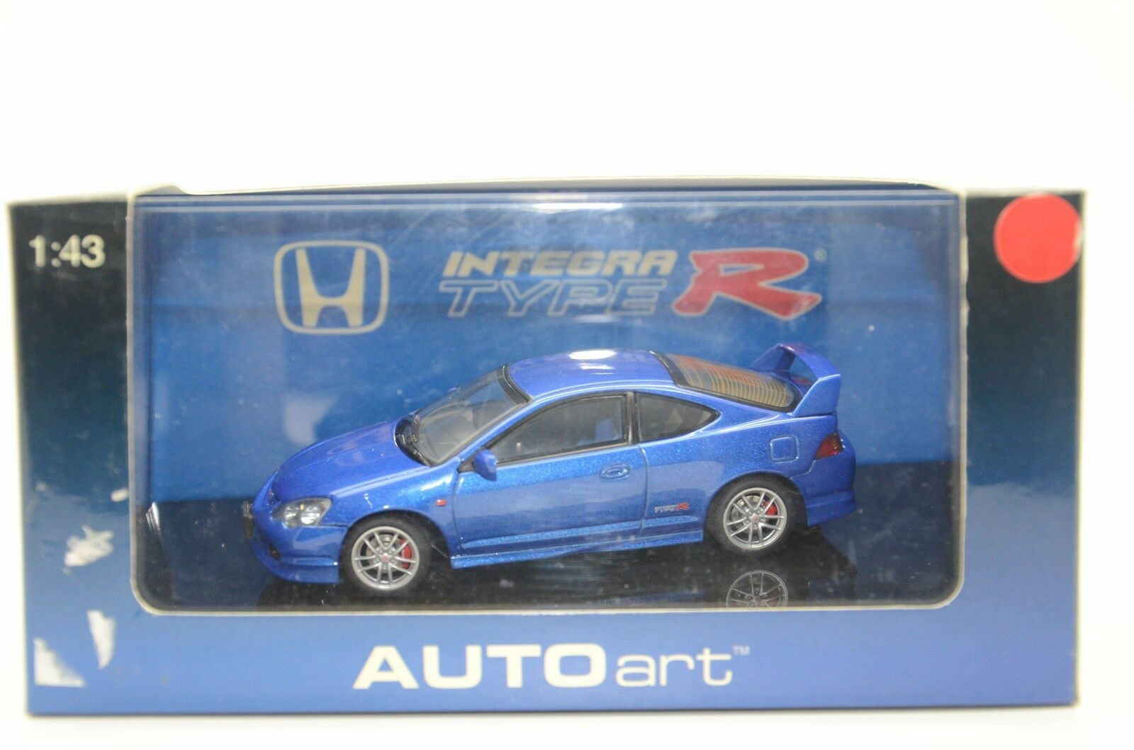 RARE       Honda Integra Type R Electric bluee Auto Art 53243 1 43 8c9913
