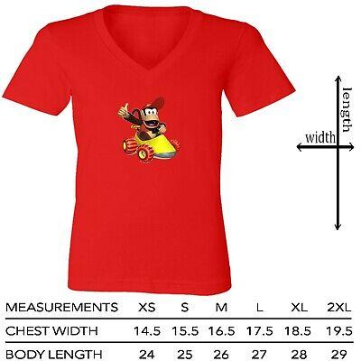 Details about  /Gaming Super Mario Kart King Koopa Video Game Women Junior Girl V-Neck T-Shirt
