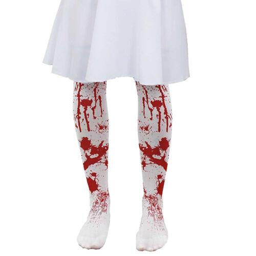 Childs macchiato sangue Collant Ragazze Halloween Sanguinoso Costume Accessorio