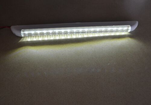 1 x 12V Weiß LED Innenleuchte 18 LEDs Innenraumleuchte PKW LKW Wohnwagen Bus NEU