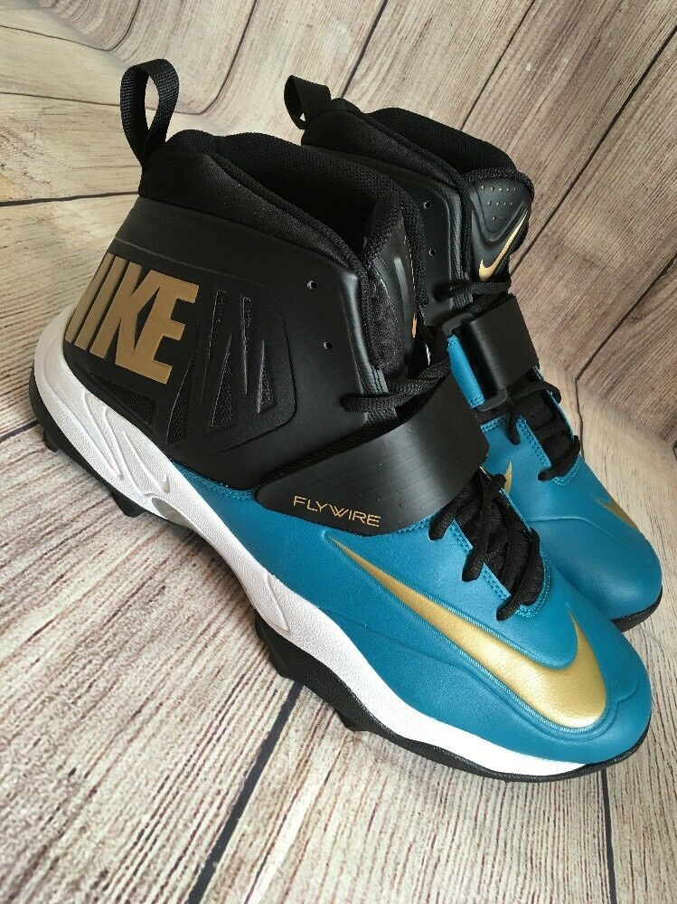 Nike flywire uomini lineman lineman lineman 3   4 td football scarpe blu e nero 618167-015 numero 16 | La prima serie di specifiche complete per i clienti  2b644a