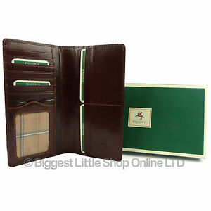 Visconti MZ5 Quad Fold Mens Glazed Soft Leather ID Wallet Coin Purse Gift Boxed