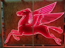 8ft Neon Mobil Pegasus Cookie Cutter Sign *Gas & Oil FREIGHT SHIPPING AVAILABLE