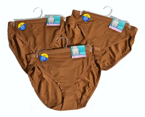 Set of 3 Vanity Fair Comfort Where It Counts hi cut panties 13164 /_MORECOFFEE