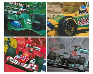 Art-Card-Michael-Schumacher-039-s-F1-teams-by-Toon-Nagtegaal-OE