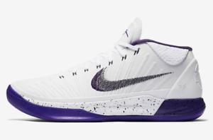 Nike Kobe AD Basketball Low Shoes Court Purple White Black 922482-100 Mens 10/>14