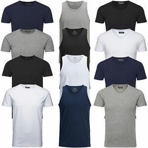 Jack-amp-Jones-Herren-T-Shirt-Basic-V-Neck-O-Neck-Tee-Tank-Top-UVP-12-95