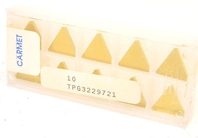10 pcs. TPG-222 Grade C5//C6 Tin Coated Carbide Inserts