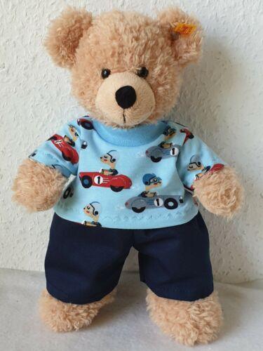 Kleidung für 28-30cm Bär Teddy*Bärenkleidung Rennfahrer Hose Shirt