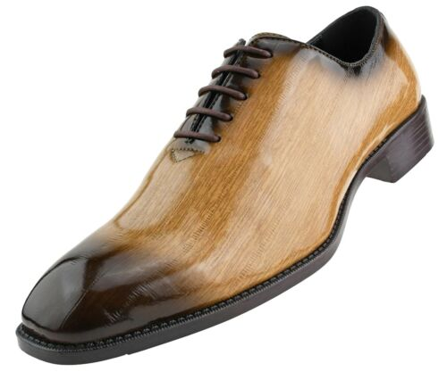 Exotic Formal Shoes Oxford Lace-Ups Exotic EEL Skin Print Men/'s Dress Shoes