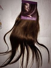 """#6 Thick Deluxe 20"""" Clip In Remy 100% Human Hair Extensions Full Head chestnut"""