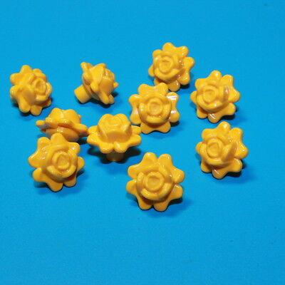 #596 LEGO® 93081c Friends Rose mit Pin 10x hellorange NEUWARE