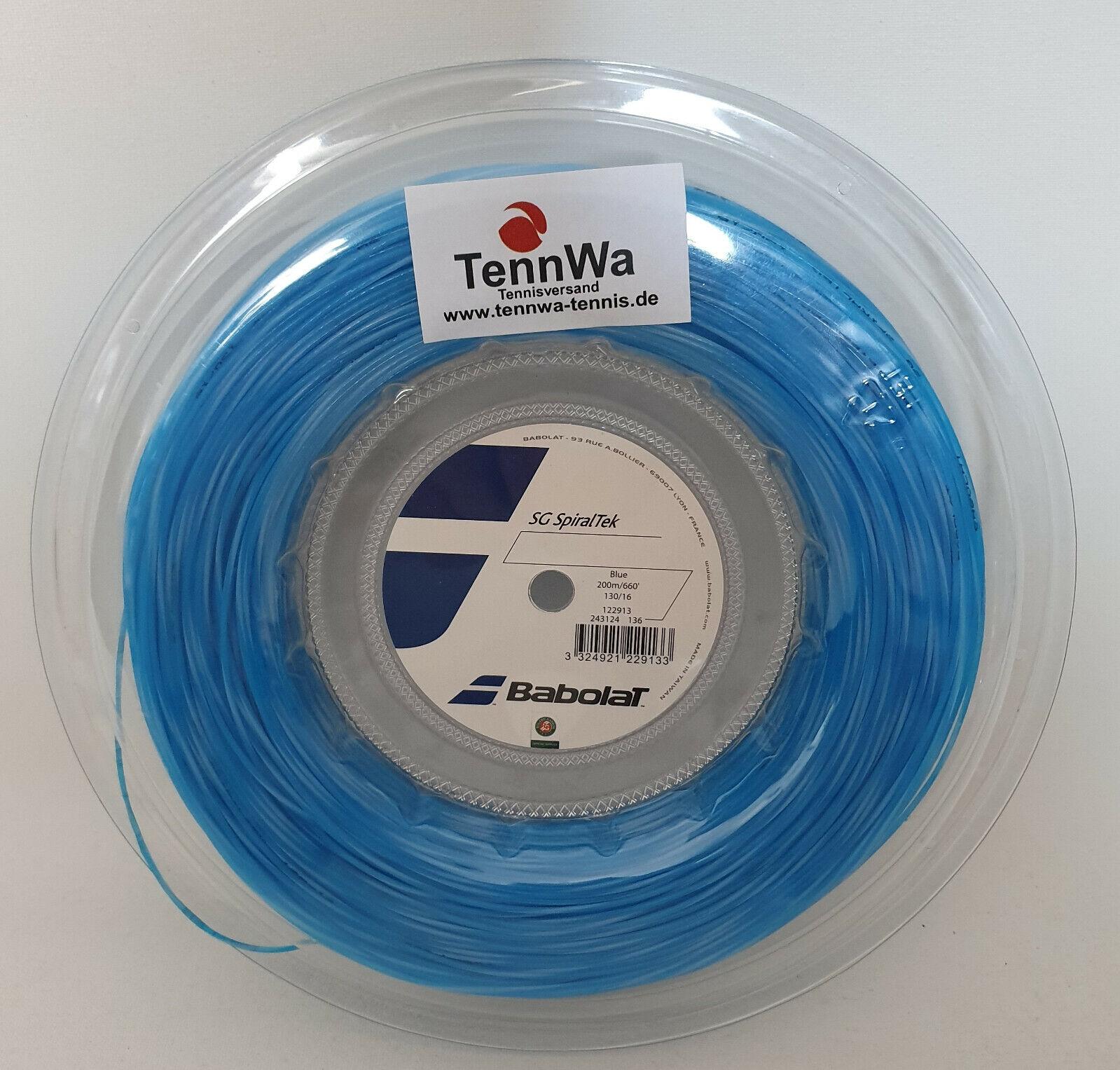 200m (0,4 065533;  lfdm) Babolat SG SpiralTek blau --Multifilamannent Tennissaite UVP150 groenel5533;