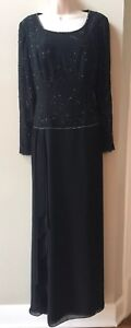 NWT-Jade-by-Jasmine-Black-Mother-of-the-Bride-Formal-Gown-Dress-Sz-6