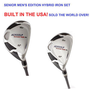 AGXGOLF-MEN-039-S-RIGHT-HAND-XS-4-amp-5-HYBRID-SET-GRAPHITE-CHOOSE-LENGTH-AND-FLEX
