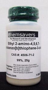 Ethyl-2-amino-4-5-6-7-tetrahydrobenzo-b-thiophene-3-carboxylate-99-25g