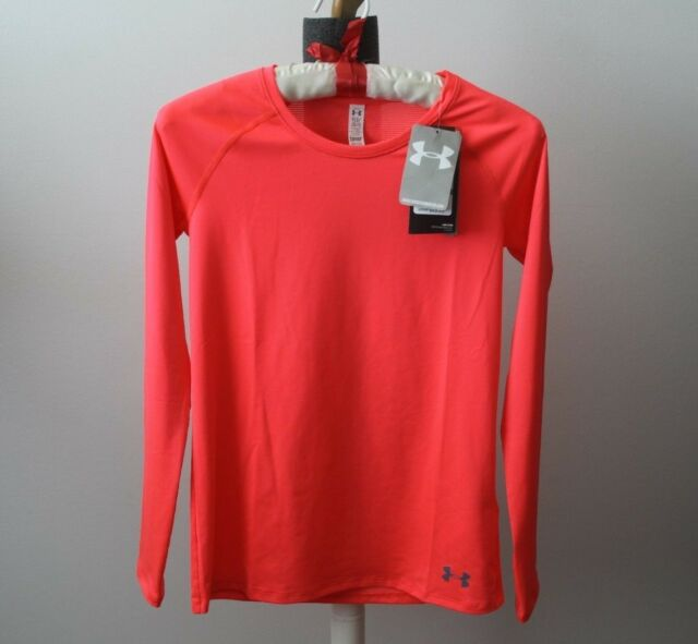 3e7529d3 Under Armour heat gear Girls NEW Fitted Youth Large Shirt UPF 30 Long Sleeve