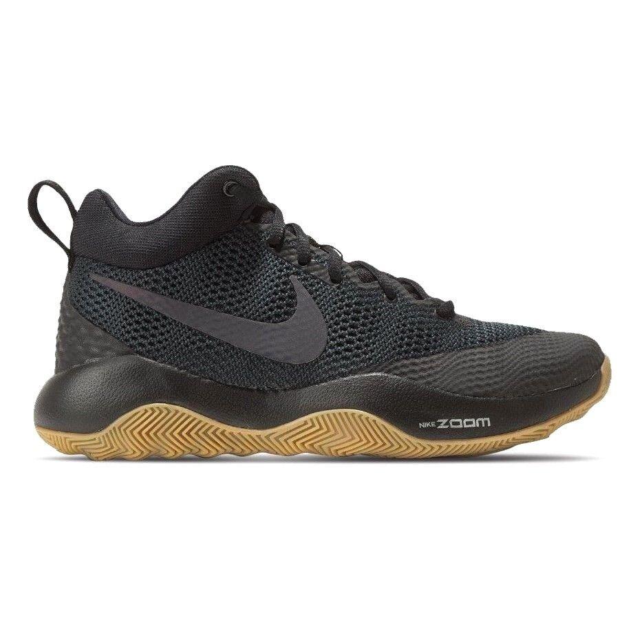 Nike Zoom Rev Basketball Shoes Antracite Black/Gum Men's Size 8.5 (852422-010)
