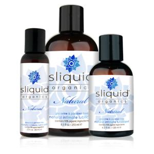 Sliquid Organics Natural Aloe Vera & Water Based Lubricant - Choose Size