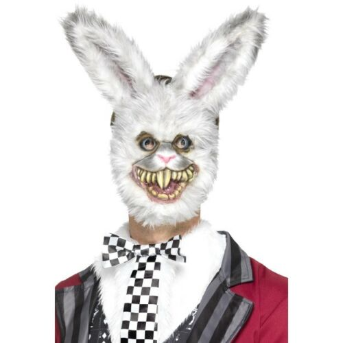 Zombie Lapin Blanc Masque Adultes Animal Halloween Déguisement Robe