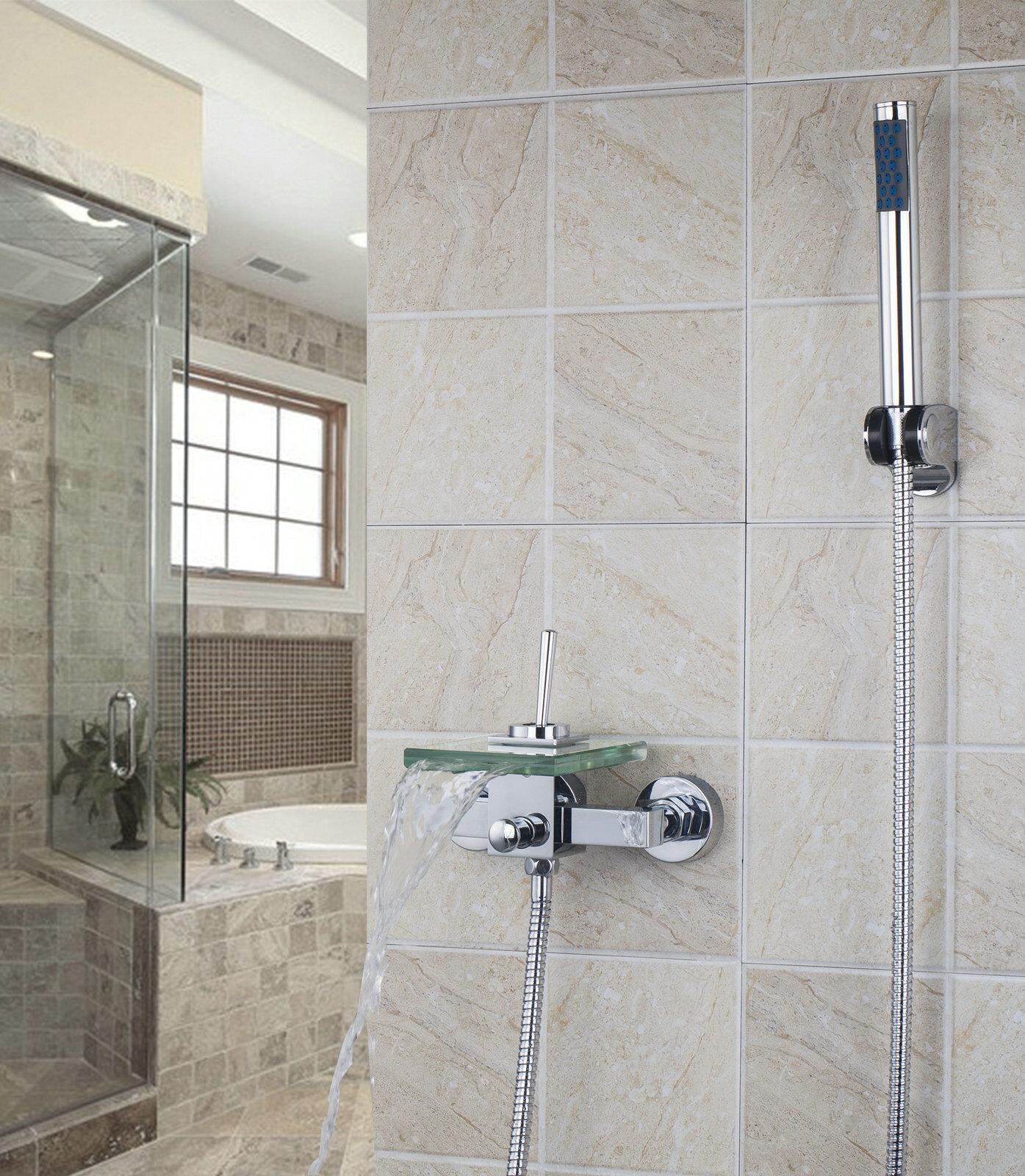Bagno parete vasca da bagno vetro doccia rubinetto miscelatore lavabo lavandino Rubinetti