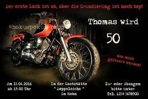50 Lustige Einladungskarten Geburtstag Motorrad Biker Einladungen